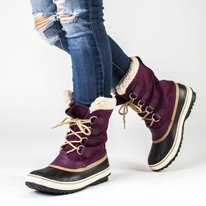 NEW Sorel Winter Carnival Purple lined boots